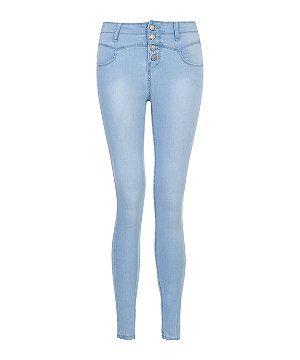 Light blue jeans!