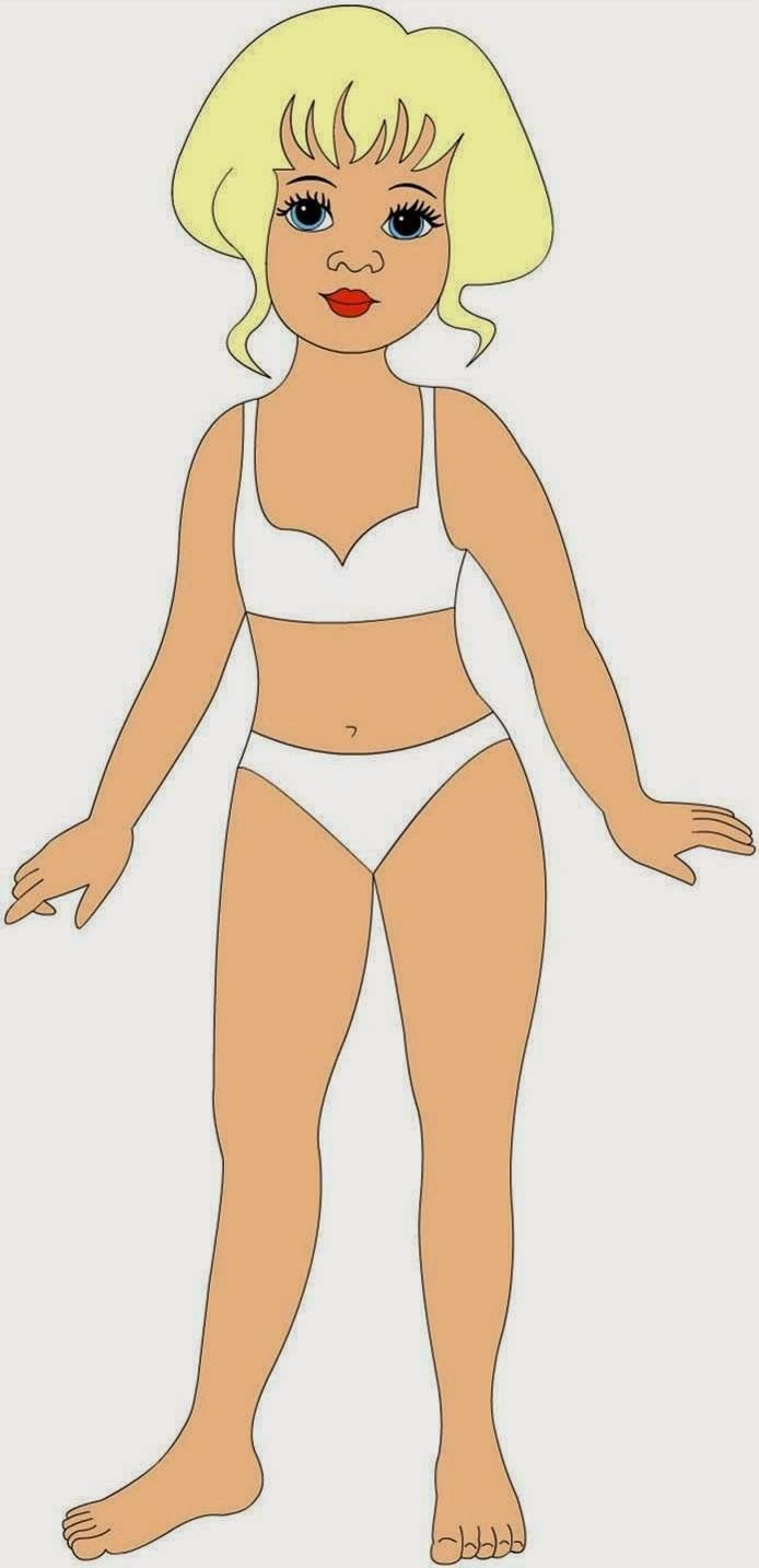 Kids Under 7: Paper Dolls with Clothes for you