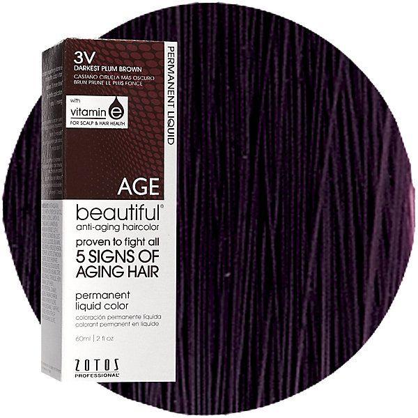 Anti-Aging 3V Dark Plum Brown Permanent Liquid Hair Color | Liquid ...