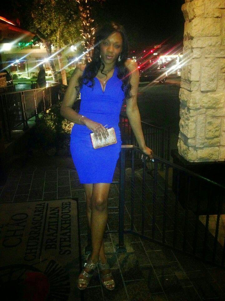 Angel in a blue dress