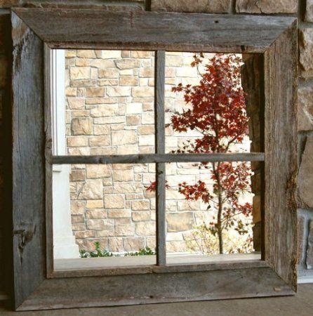 Amazon Com Rustic Window Pane Mirror 4 Mirrors 12x12 Panes Home Kitchen Rustic Window Window Pane Mirror Rustic Mirrors