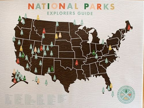 National Parks Checklist Map Pair this up with the article about