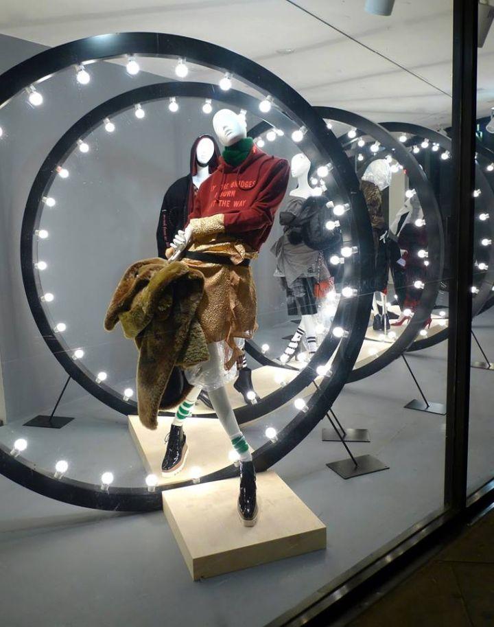 Joseph Fashion Window Display With Atrezzo Mannequins Fashion Window Display Visual Merchandising Displays Store Window Displays