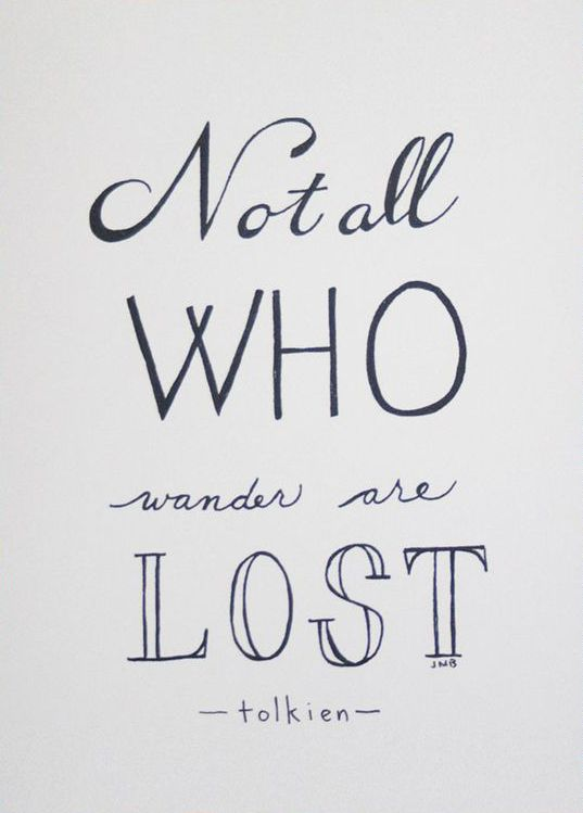 Not All Who Wander Quote Art Print