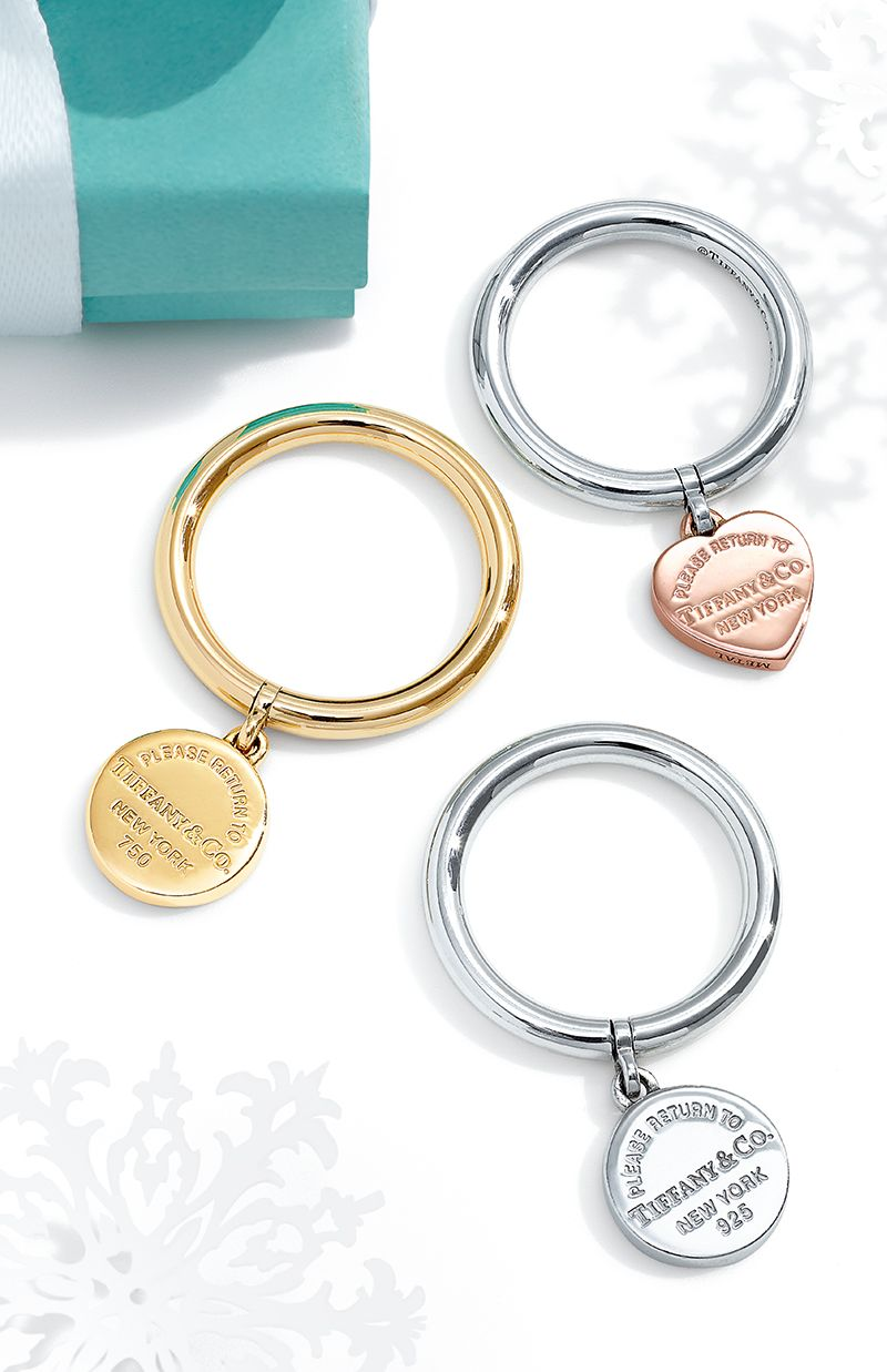 913e5d3c8 Return to Tiffany® circle tag rings in 18k gold, sterling silver and  RUBEDO® metal.