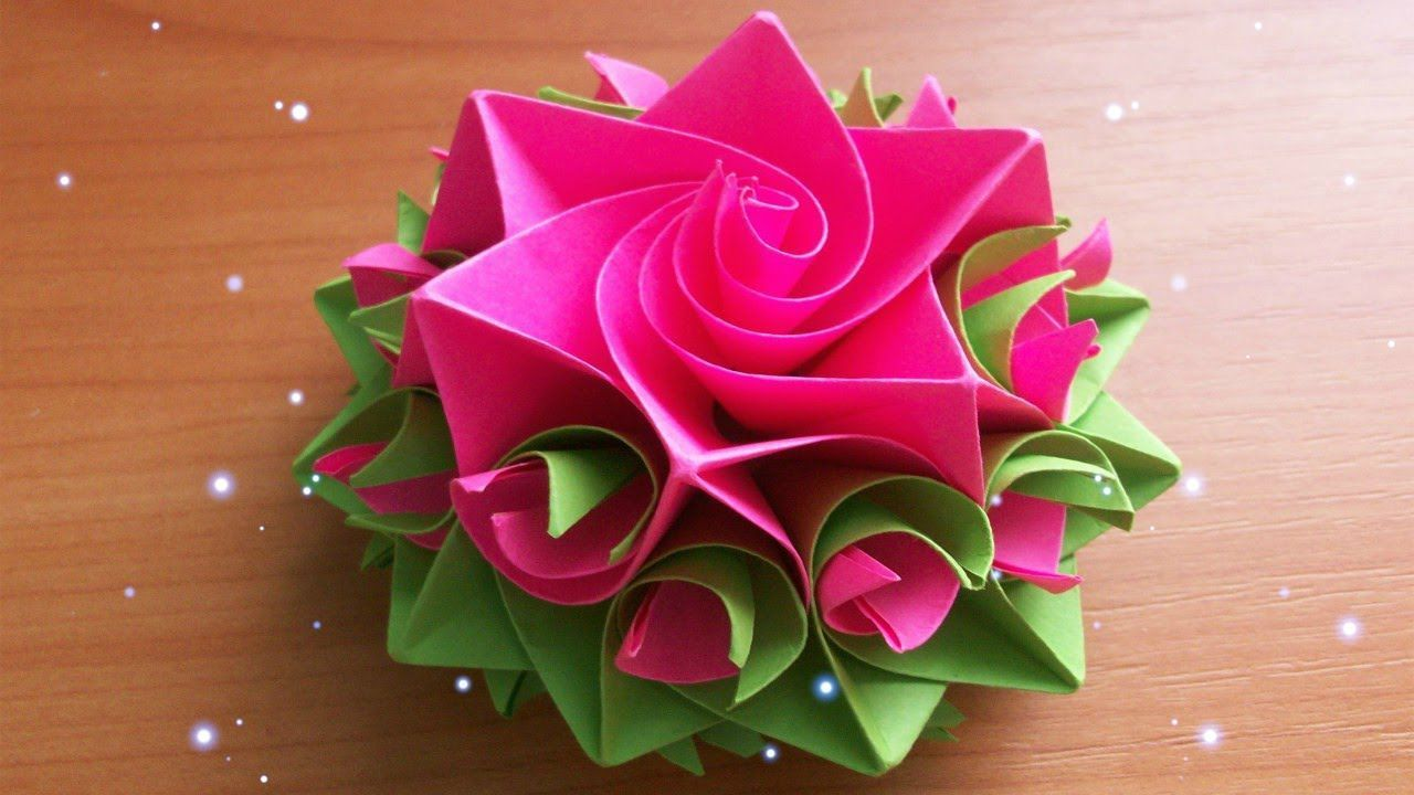DIY Handmade Crafts How To Make Amazing Paper Rose Origami Flowers For