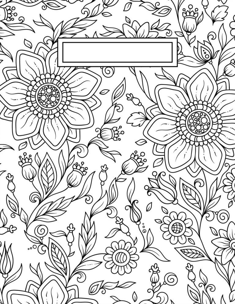 Back to School Binder Cover Adult Coloring Pages   Printables ...
