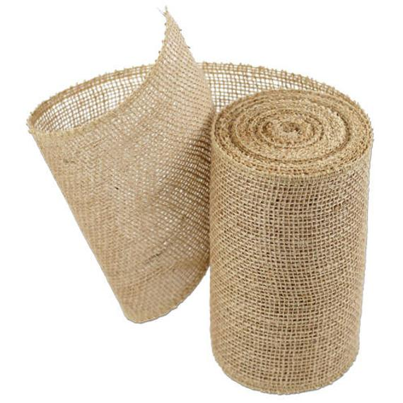 6 Inch Burlap Jute Serged Ribbon 10 Yards Choose Etsy In 2020 Burlap Ribbon Burlap Deco Mesh Wreaths