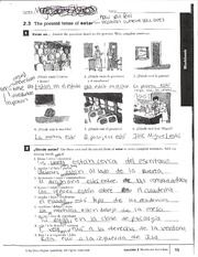 Image Result For 2 3 Present Tense Of Estar Workbook Answers