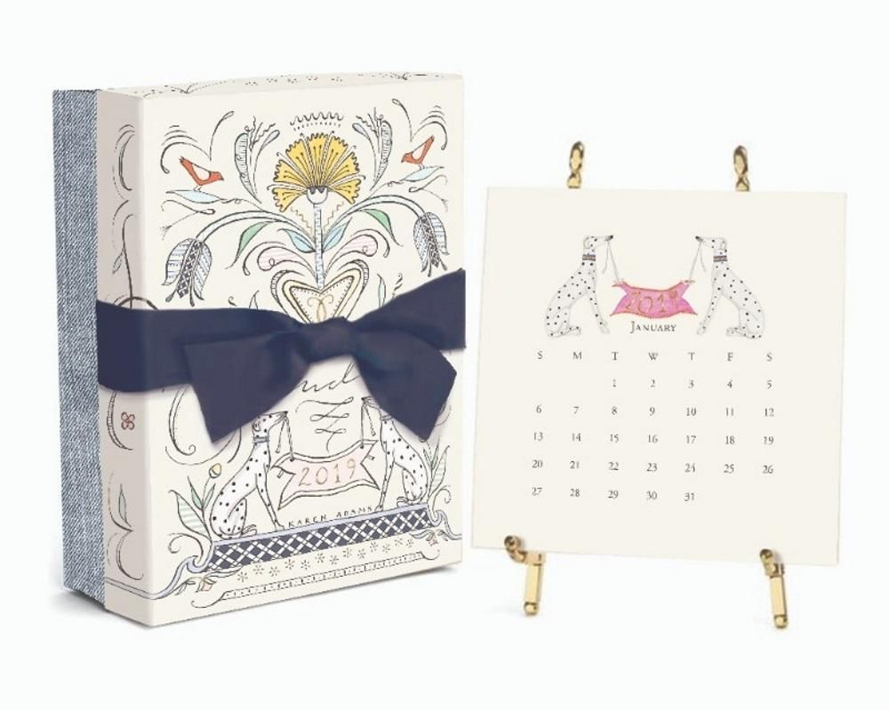 Wedding decorations at home january 2019 Karen Adams  Desk Calendar Month Gold Easel  Desk calendars