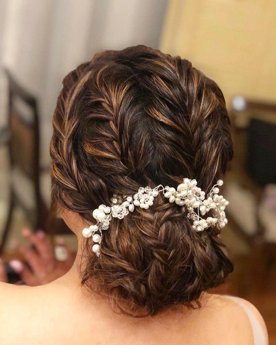 Braided Bun Hairstyles In 2020 Bridal Hair Buns Braided Bun Hairstyles Bridal Bun