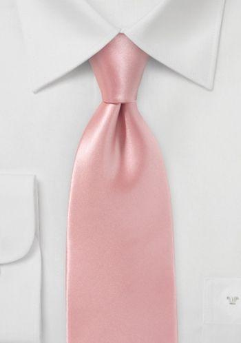 Businesskrawatte Italienische Seide Rosa Unifarben Seide Krawatte Rosa