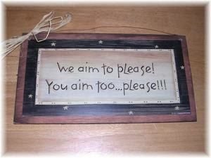 Bathroom Signs We Aim To Please we aim to please you aim too please bathroom wallmelimarlatt
