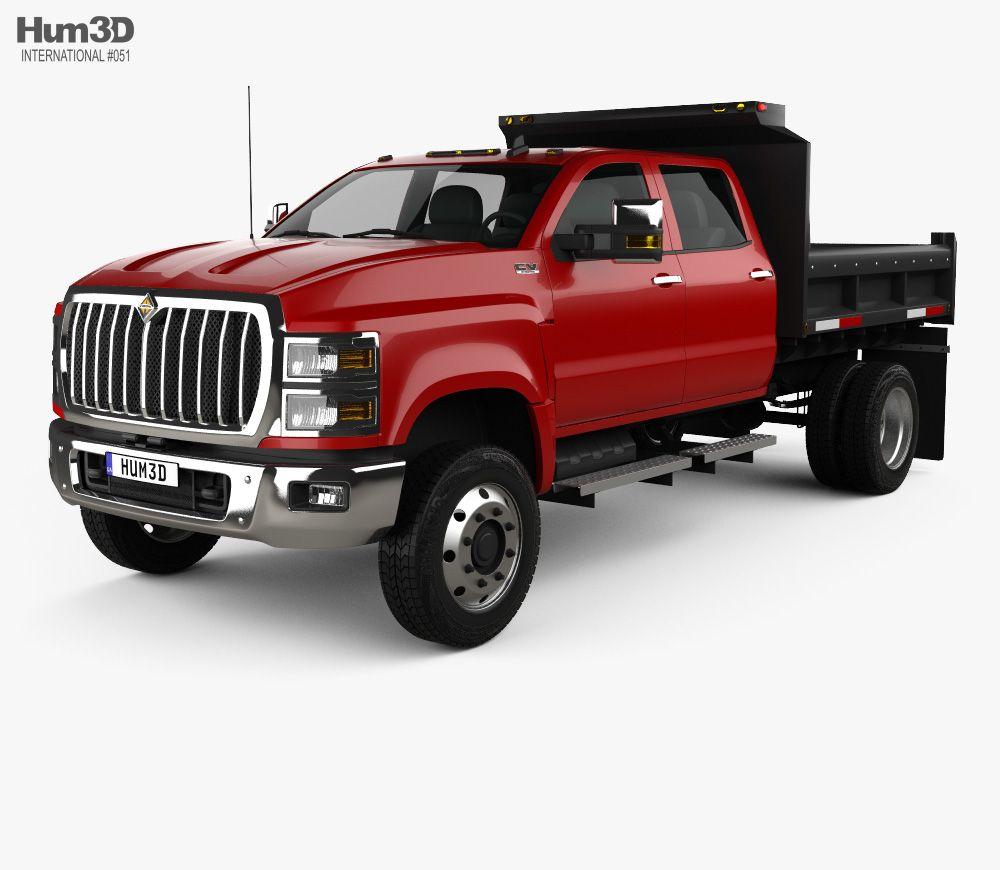 3D model of International CV Crew Cab Landscape Dump Truck