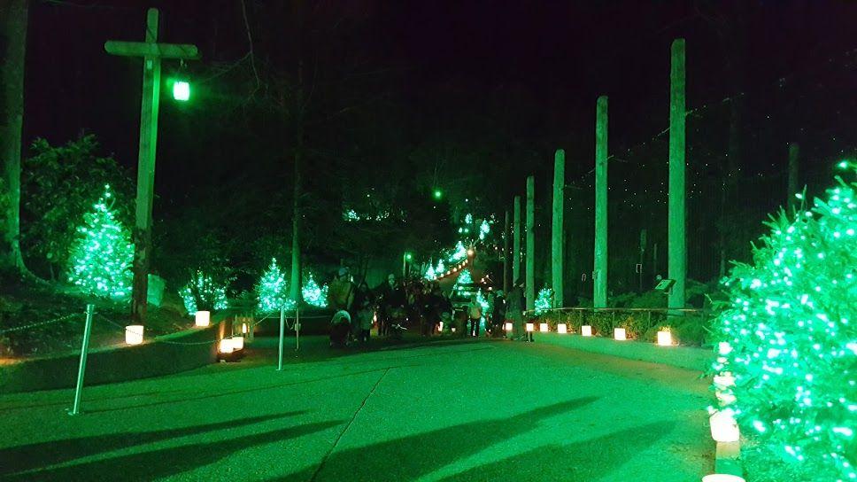 Busch Gardens Christmas Town, VA - decorations in green section - christmas town decorations