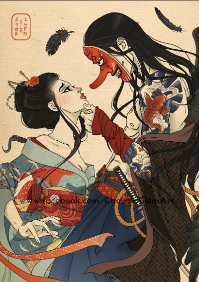 Geisha Tumblr Samurai Art Japanese Drawings Geisha Art