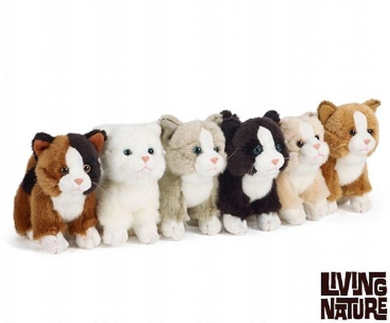 Living Nature Cute Cat Kitten Plush Soft Toy An147 15cm X 1 Single