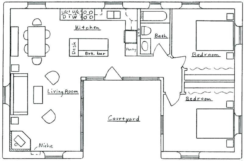 Small U Shaped House Plans U Shaped House Plan U Shaped House