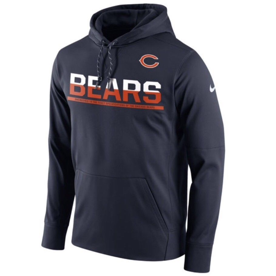 Chicago Bears Nike Therma-Fit Sideline Circuit Pro L Performance Hoodie  85   Nike  ChicagoBears 047b13943