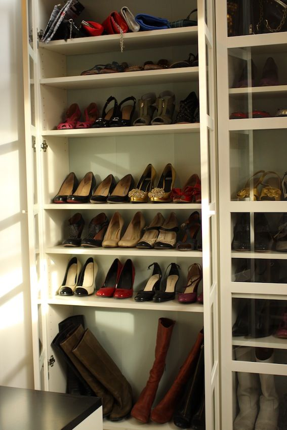 Billy Bookcase Closet Organizer Part - 17: Shoe Closet. IKEA Billy Bookcases.