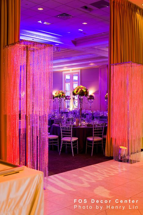 FOS Decor - Crystal Chandelier Grand Entrance #wedding #weddingdecor #eventdecor #event #crystalchandelier