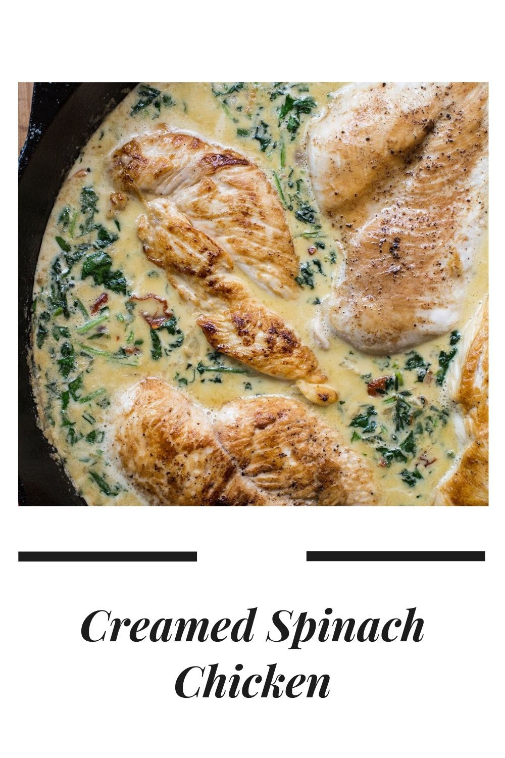 Photo of Creamed Spinach Chicken