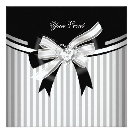 All Occasions Gray Black White Stripe Party Card