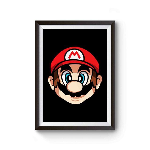 Super Mario Face Poster In 2021 Super Mario Mario Poster On