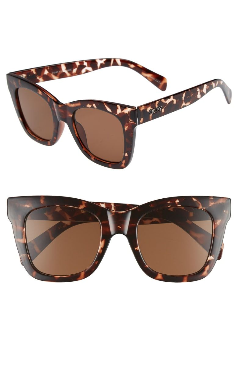 ea6d8fb1fcc Free shipping and returns on Quay Australia After Hours 50mm Square  Sunglasses at Nordstrom.com. Slightly winged temples update staple square  sunglasses