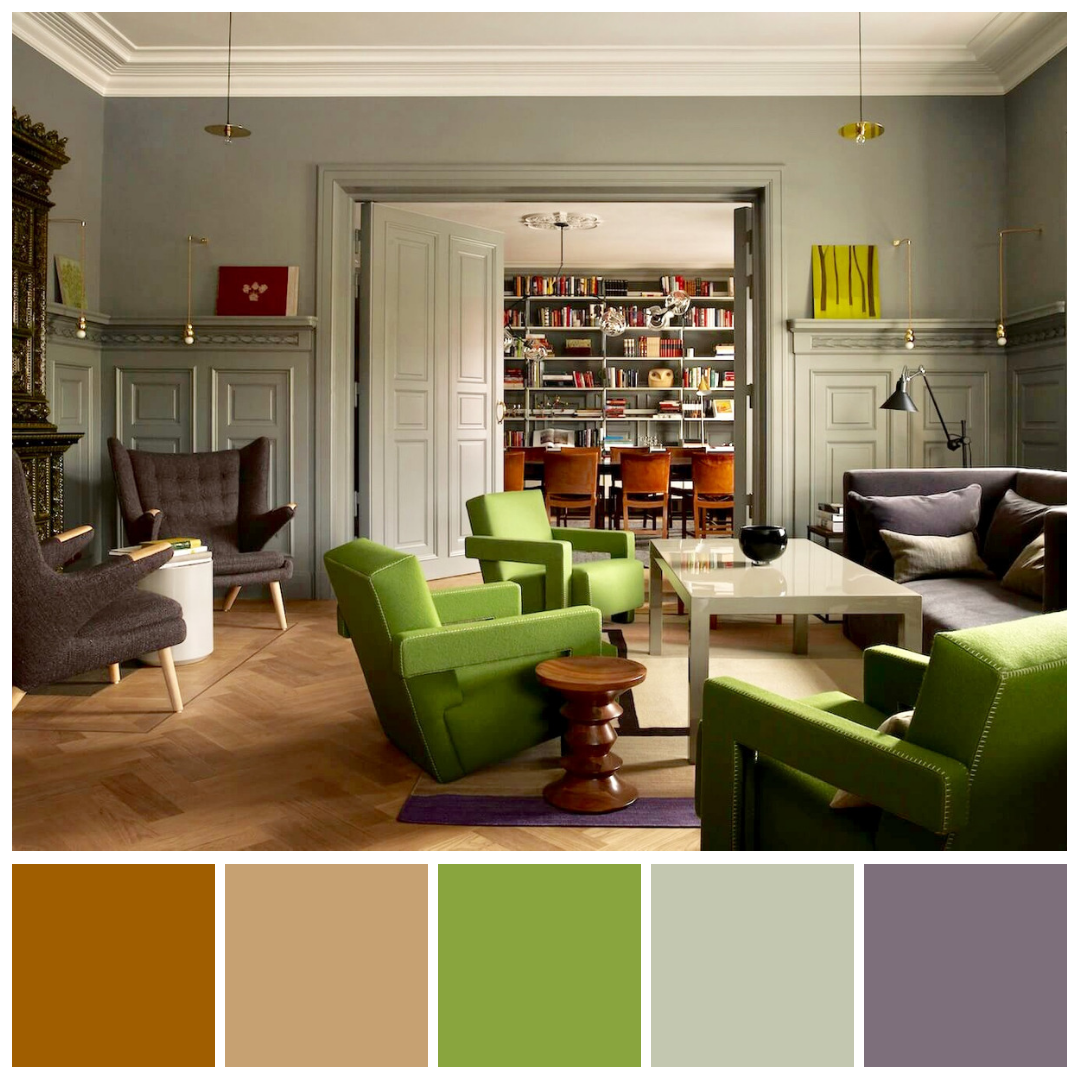 Pin Pa Colour Strategies #orange #and #green #living #room