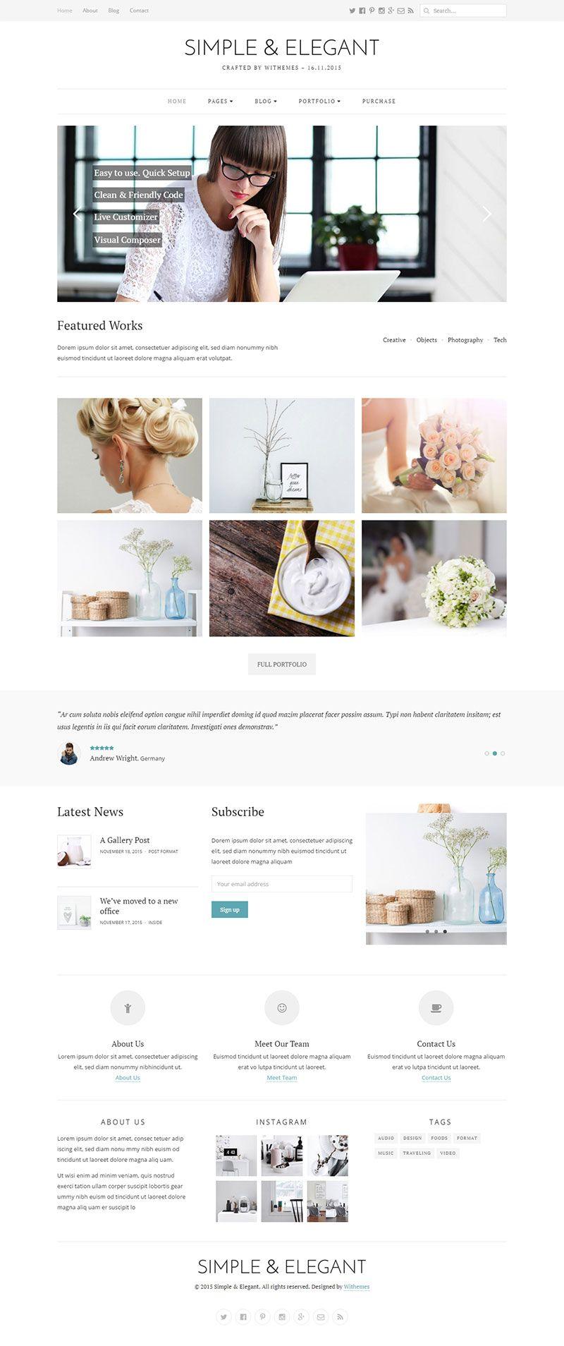 simple elegant multi purpose wordpress theme download http