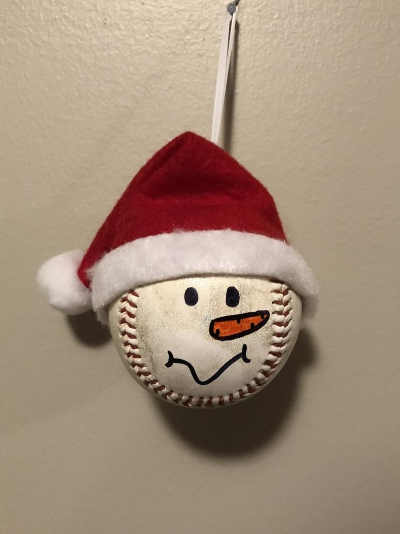 Ornament Baseball Etsy Xmas Crafts Holiday Crafts Christmas Christmas Crafts