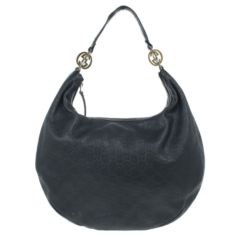 83fa161e97 Gucci Guccissima Leather 'GG Twins' Medium Hobo Classic Handbags, Twins,  Gemini,