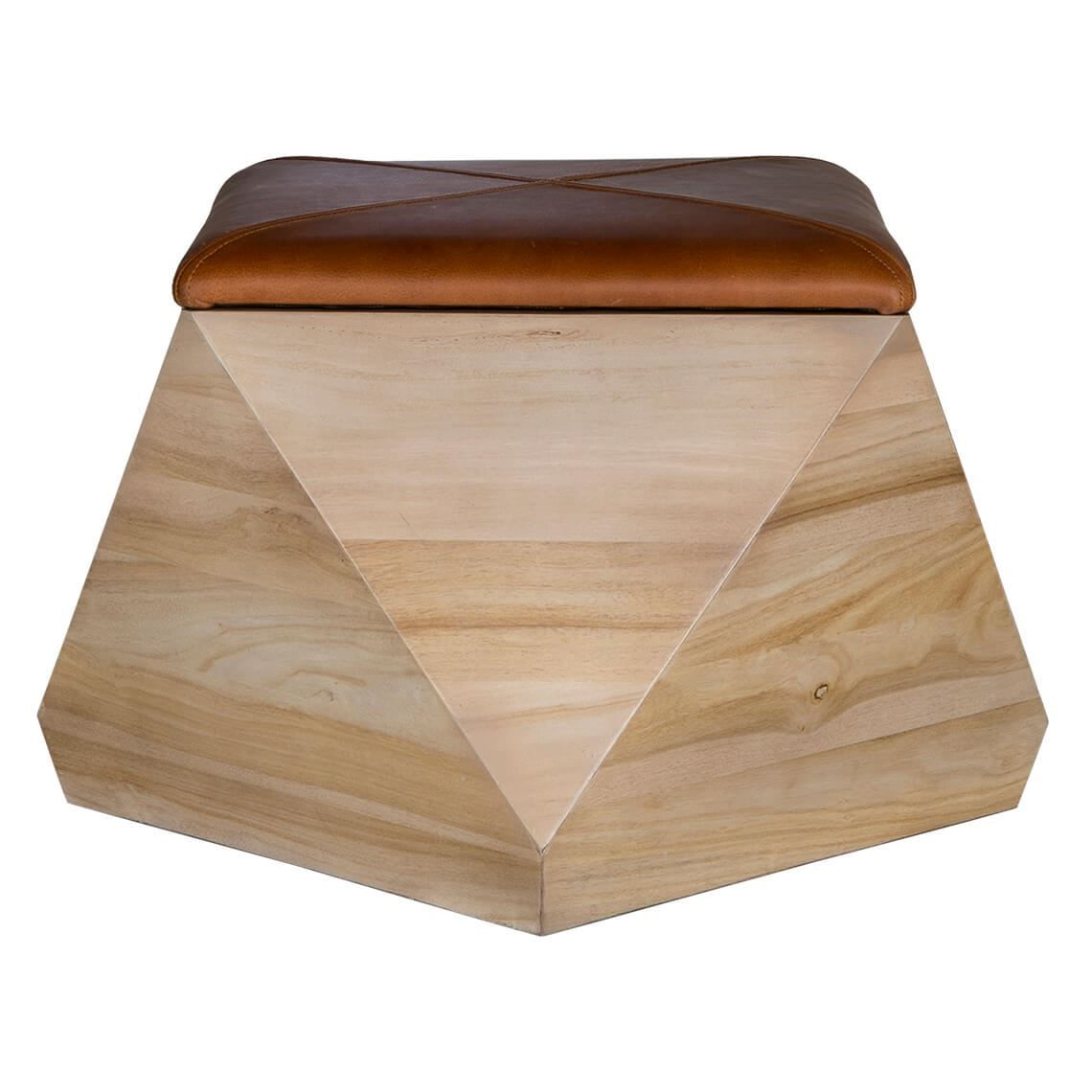 Strange Prism Storage Stool With Leather Natural In 2019 Living Short Links Chair Design For Home Short Linksinfo
