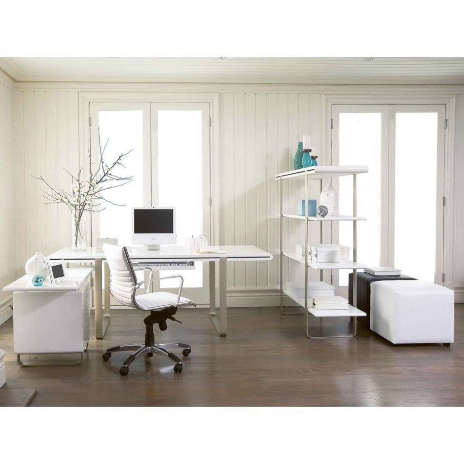 inspiring home office contemporary. Elements In Owning Inspiring Home Office Design Ideas : Luxury White Contemporary M