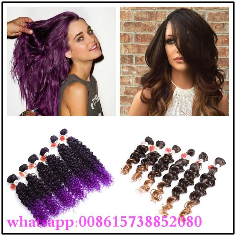 Ombre Brown Kinky Curly/deep Wave Peruvian Hair Curly 6 Bundles Ombre Purple Hair Weave Africa Synthetic Hair Extension Ombre Braiding Hair Expression Synthetic Hair Extension Ombre Color Hair Online with $19.67/Piece on Wonderfulz's Store   DHgate.com