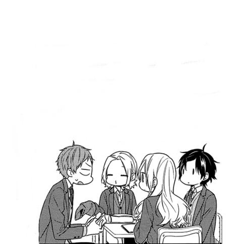 Imagen De Black And White Yoshikawa Yuki And Manga Horimiya Comic Style Art Shoujo Manga