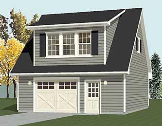 1192 5 24 X 28 1 Car Garage Plan With Loft Behm Garage Plans Garage Plans With Loft Garage Decor Garage Loft