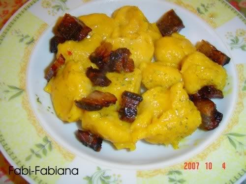 ITALIAN FOOD Pia's Pumpkin dumplings by Fabipasticcio  gluten free, cowmilkfree, lactose free