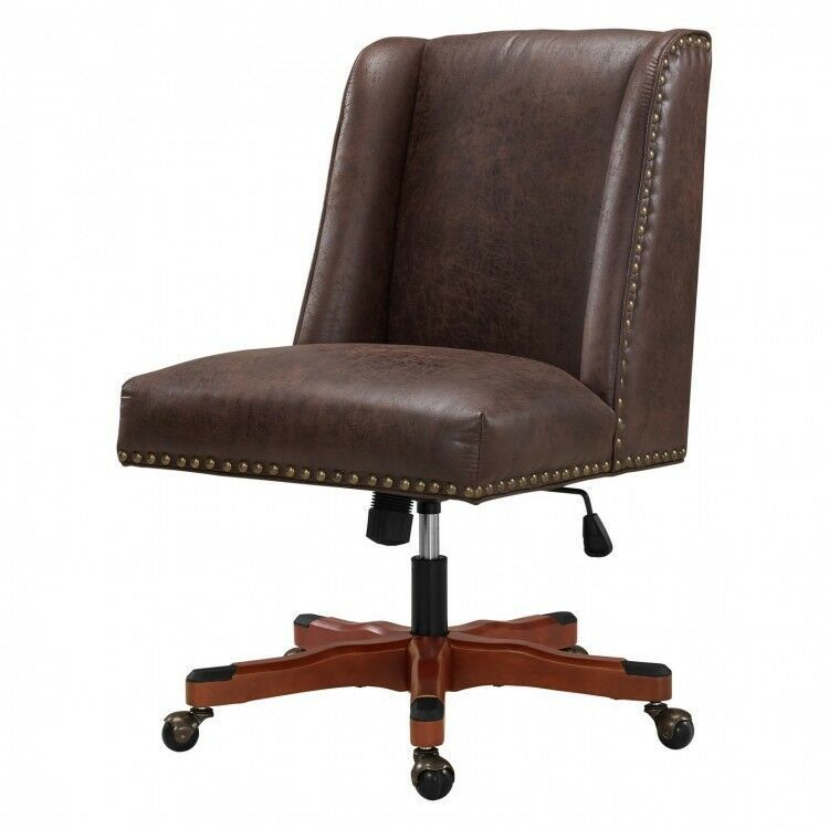 Outstanding High Back Office Chair Brown Leather Armless Executive Wood Gmtry Best Dining Table And Chair Ideas Images Gmtryco