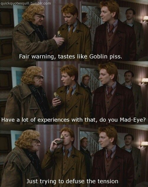 Funny Harry Potter Weasley Twins Alastor Moody Mad Eye I Love This So Much No Fred Why Did You Die Fred And George Weasley George Weasley Harry Potter