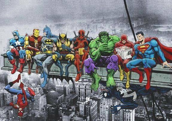 Superheros waiting for a job to show up
