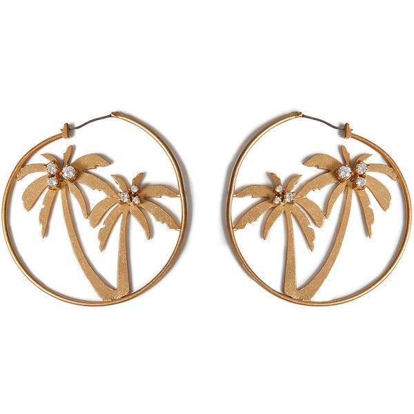 Juicy Couture Gold Tone Palm Tree Hoop Earrings 65 Liked On Polyvore