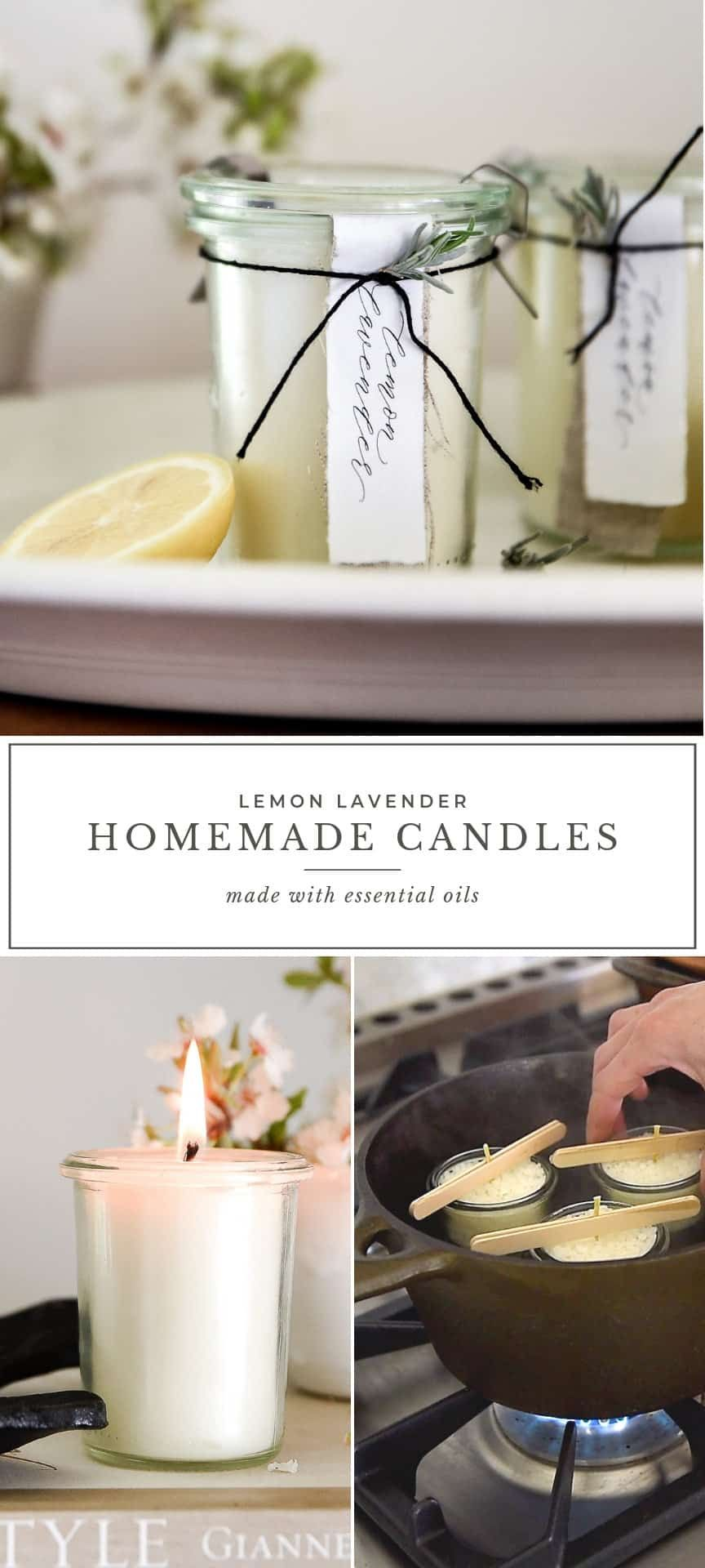 Homemade Candles with Essential Oils | DIY Lemon Lavender Candle - Boxwood Ave