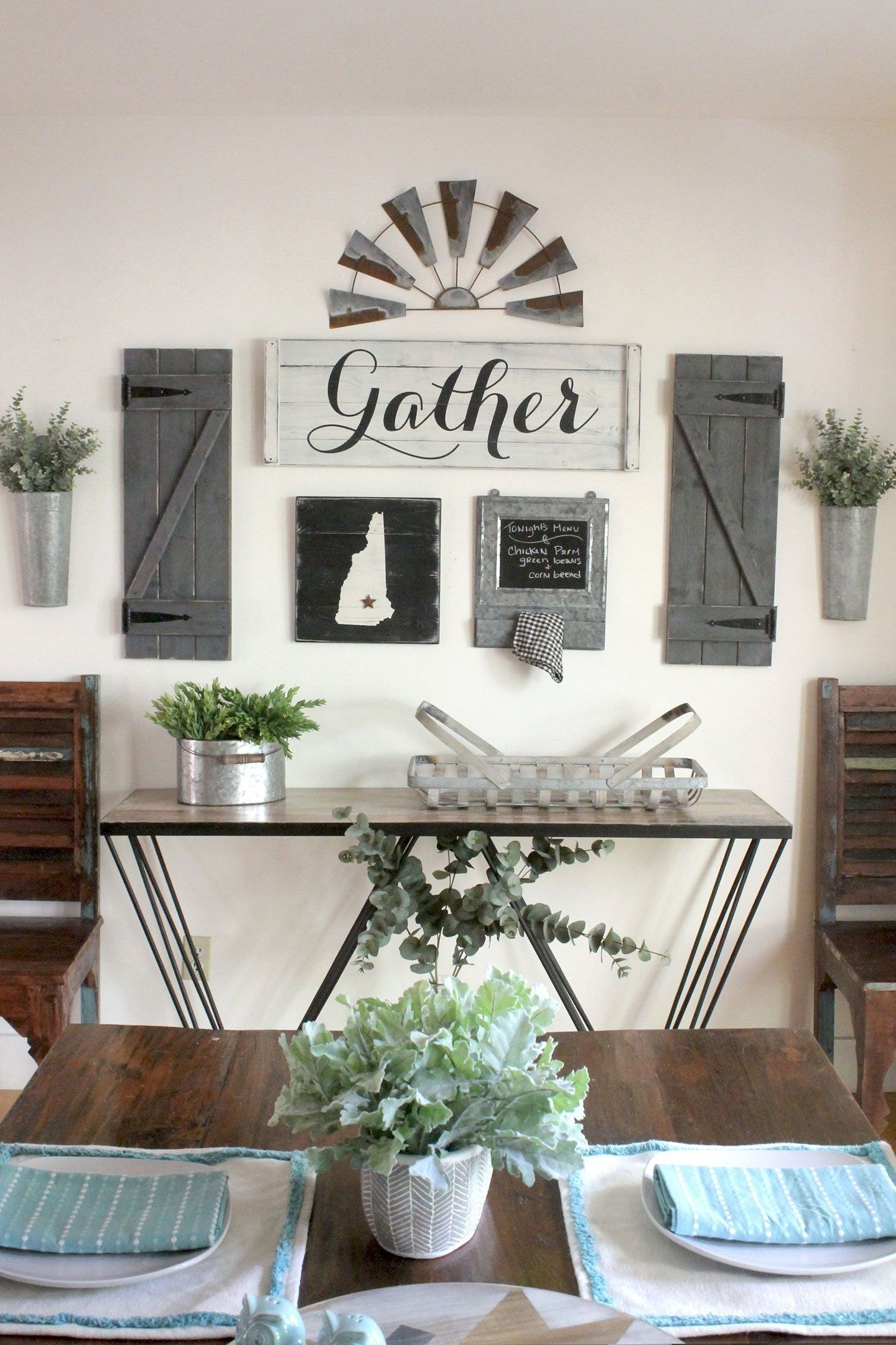Gather sign set 38 pcs gallery wall set dining room