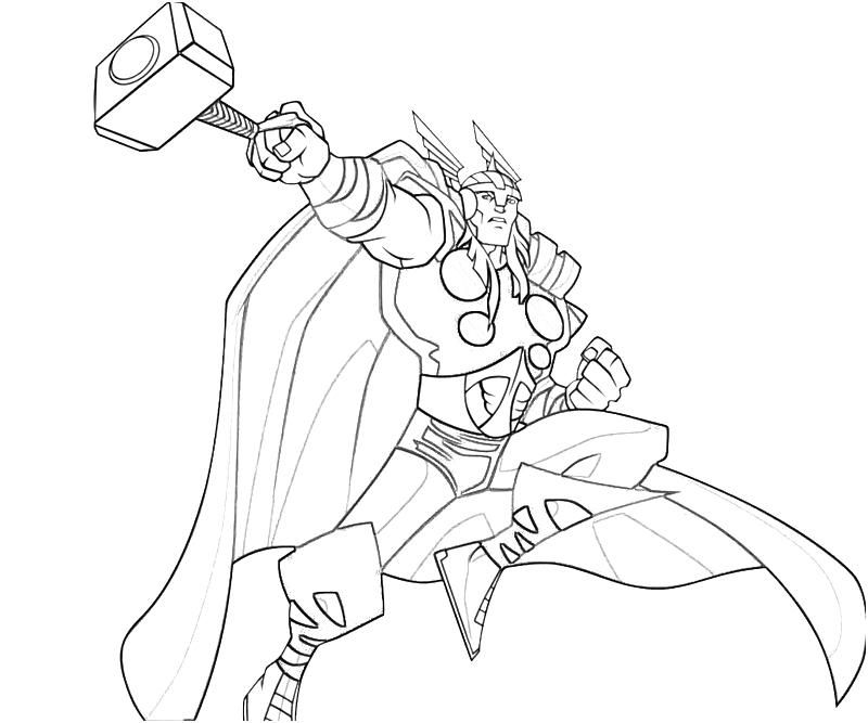 Thor Printable Coloring Pages Superhero Coloring Pages Avengers