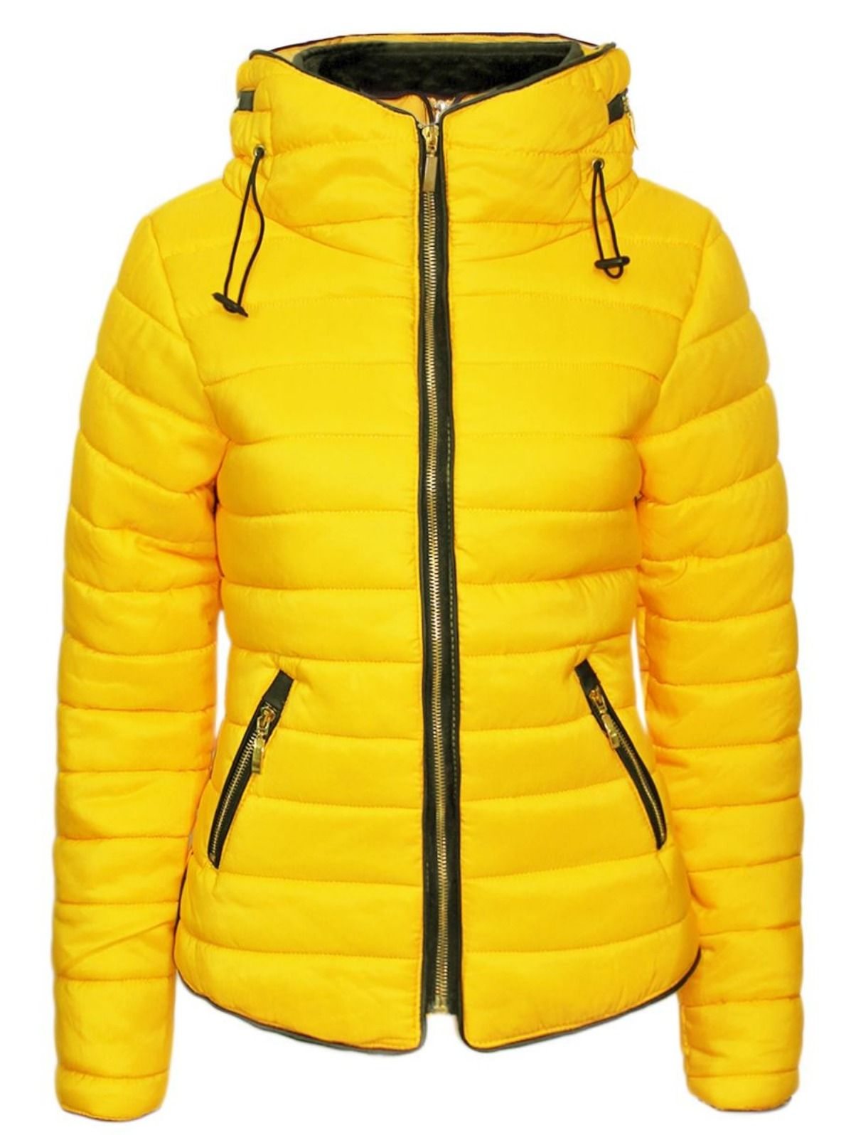 Women Plus Size Fur Collar Quilted Padded Puffer Bubble Warm Jacket Coat 16-26