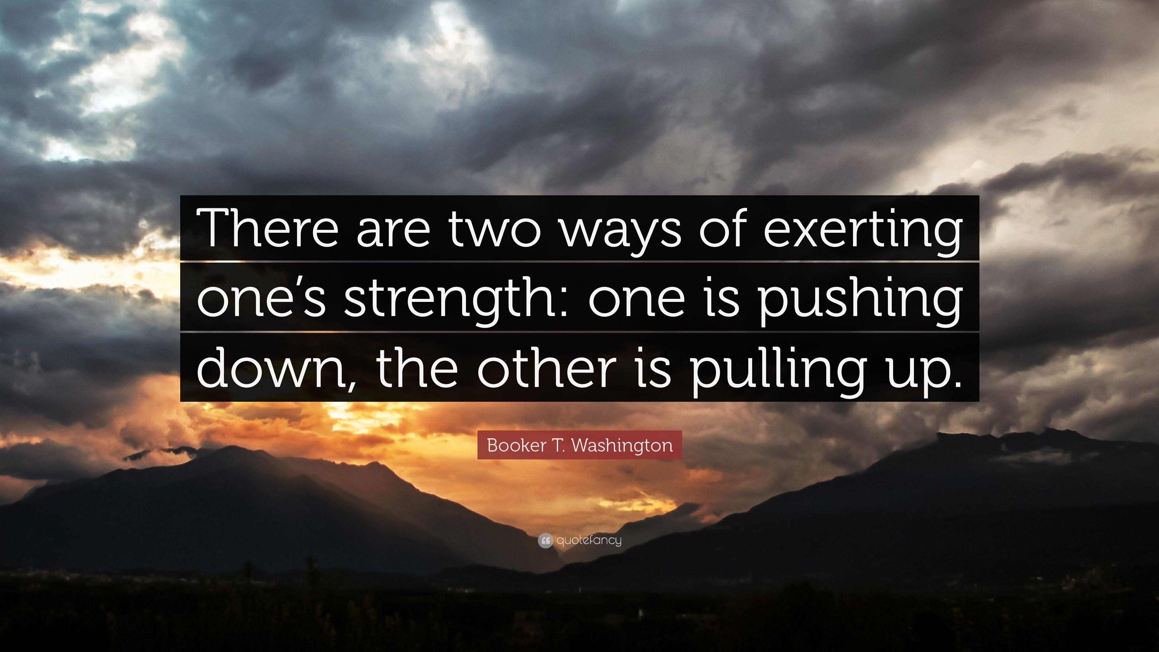 booker t washington quotes push pull - Google Search