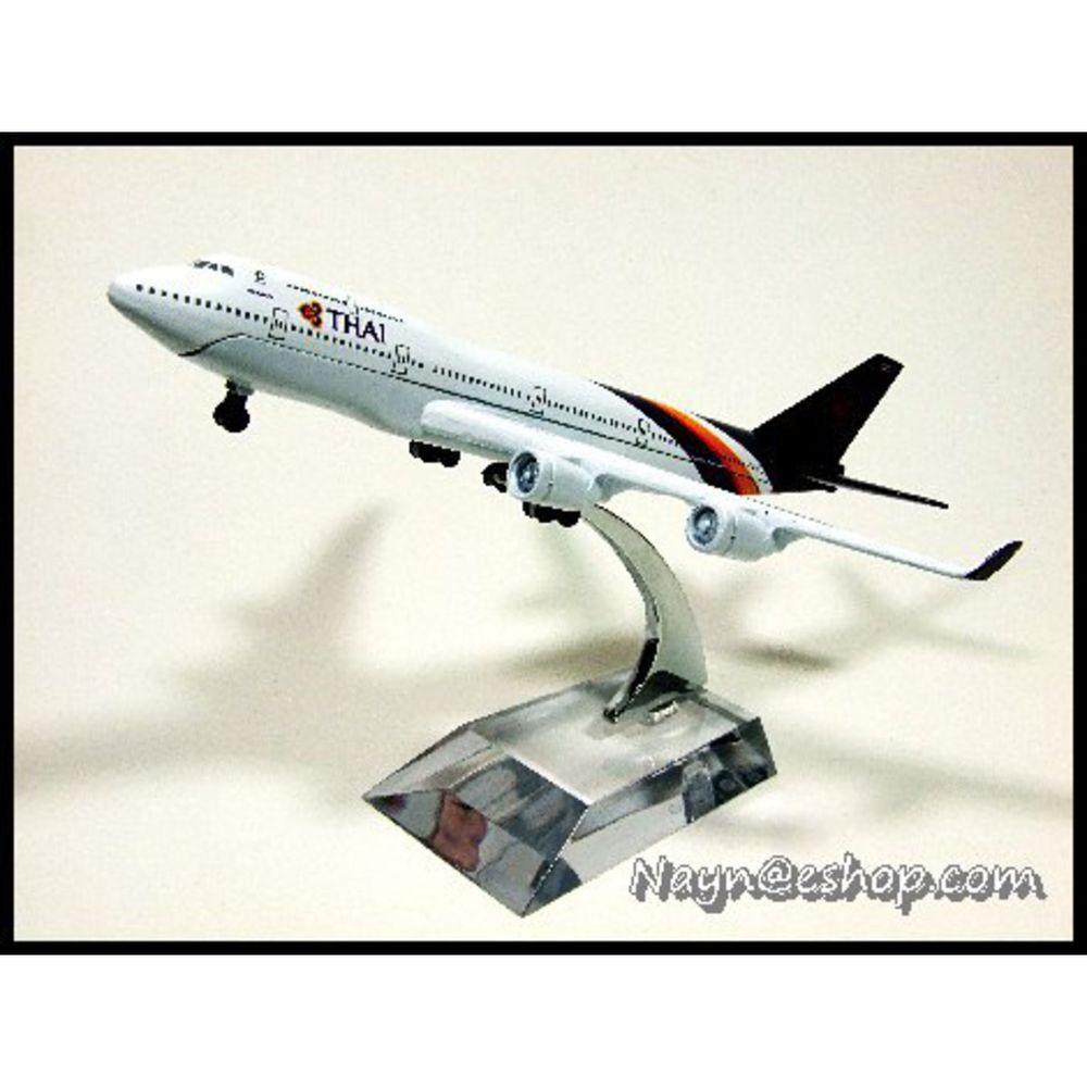 Thai airways steel model airline airbus aircraft b747 400 with other airline collectibles sciox Choice Image