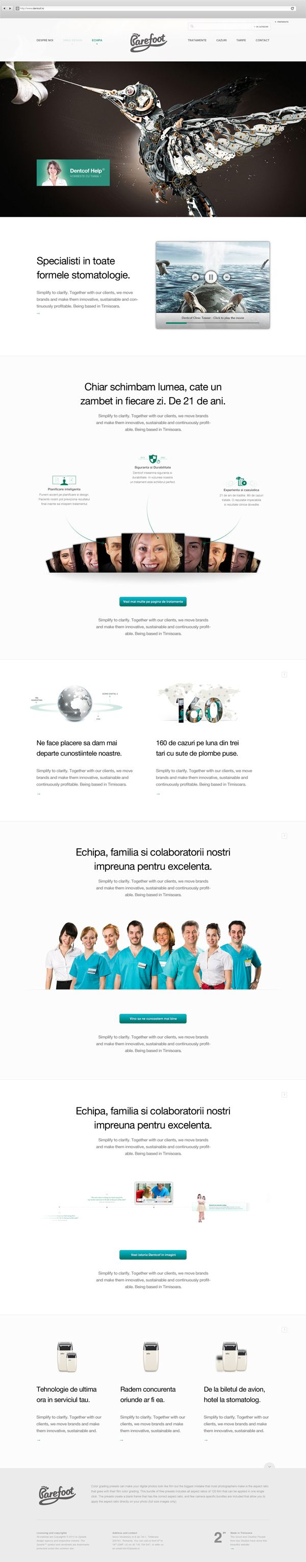 Dentcof redesign by Rus Adrian Ewald, via Behance